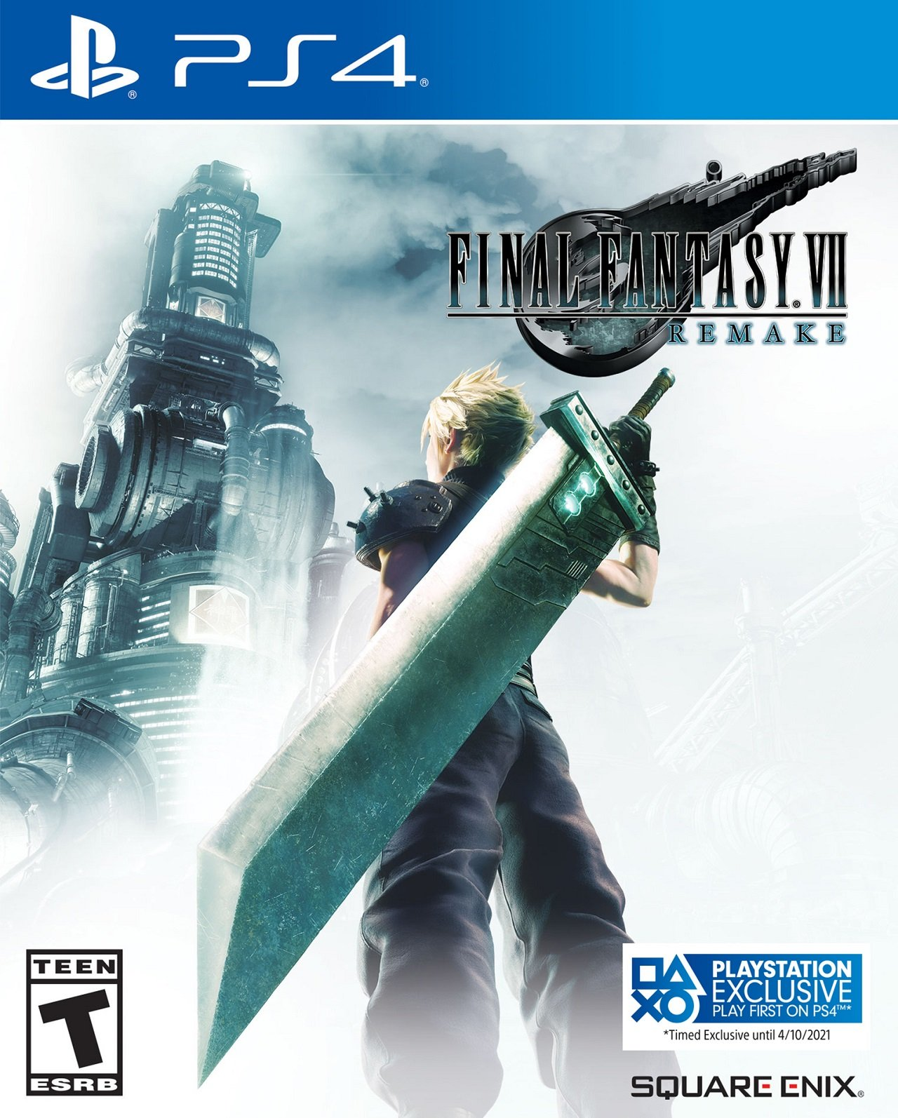 As can be seen in the marker on the lower right corner of the new box art, the PS4 delay of Final Fantasy 7 Remake has also extended its exclusivity to April 10.