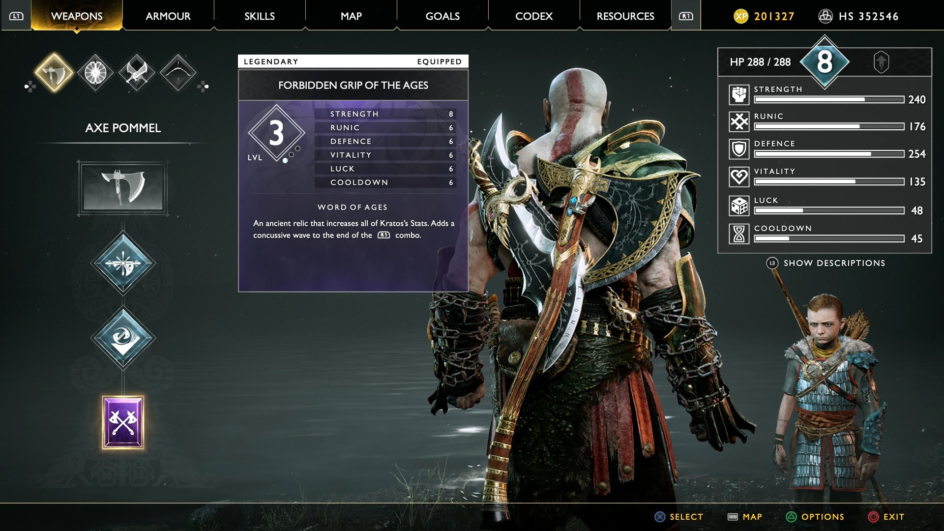 god of war forbidden grip of the ages