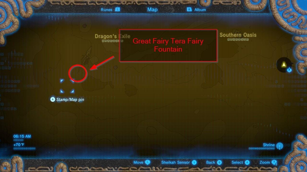 Gerudo Wasteland Tower Region - Great Fairy Tera
