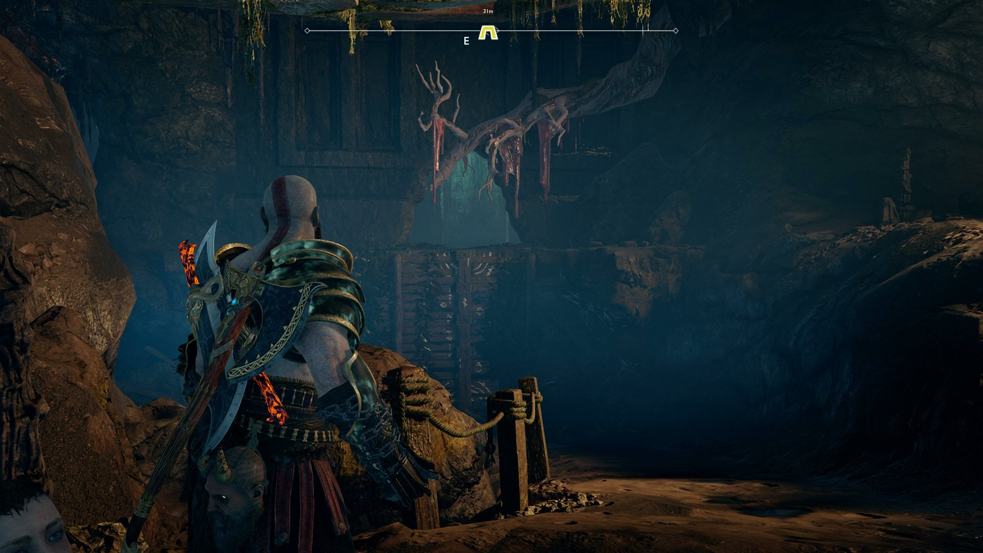 god of war hidden chamber witch's cave the river pass