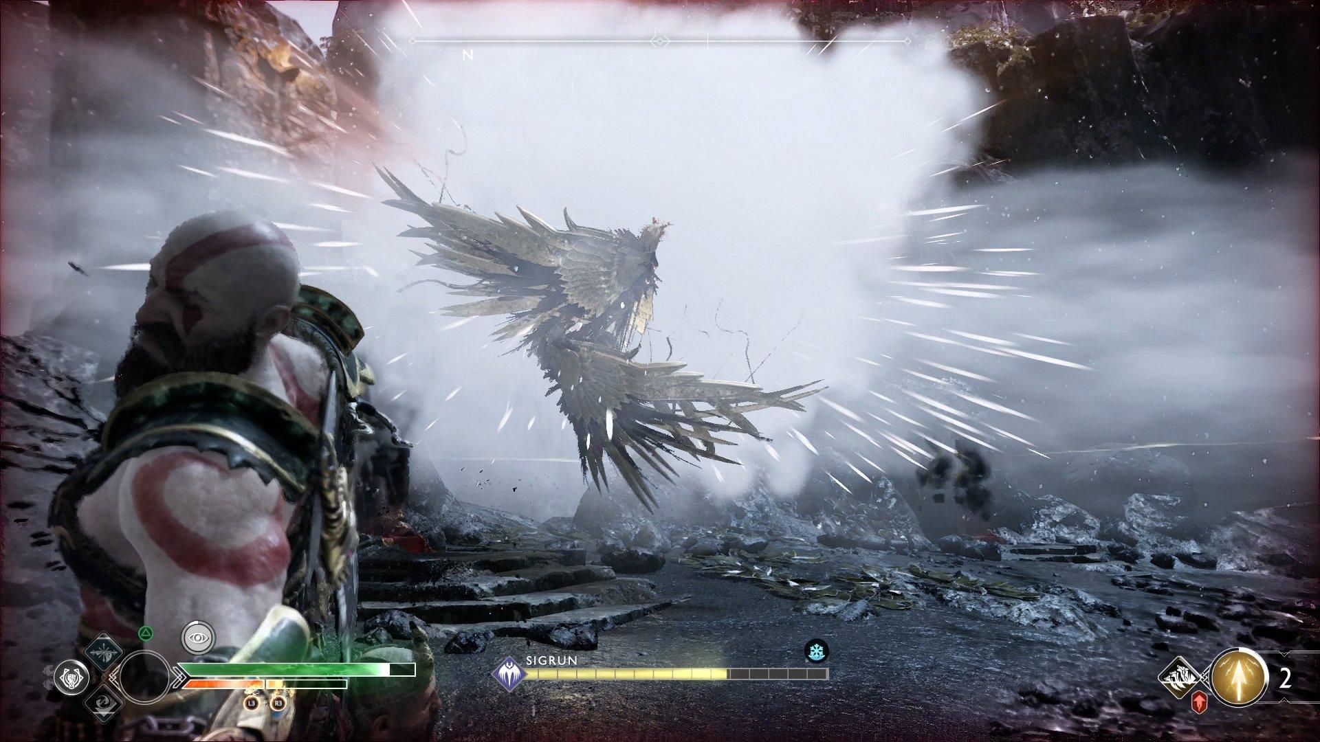 god of war valkyrie queen sigrun fog attack