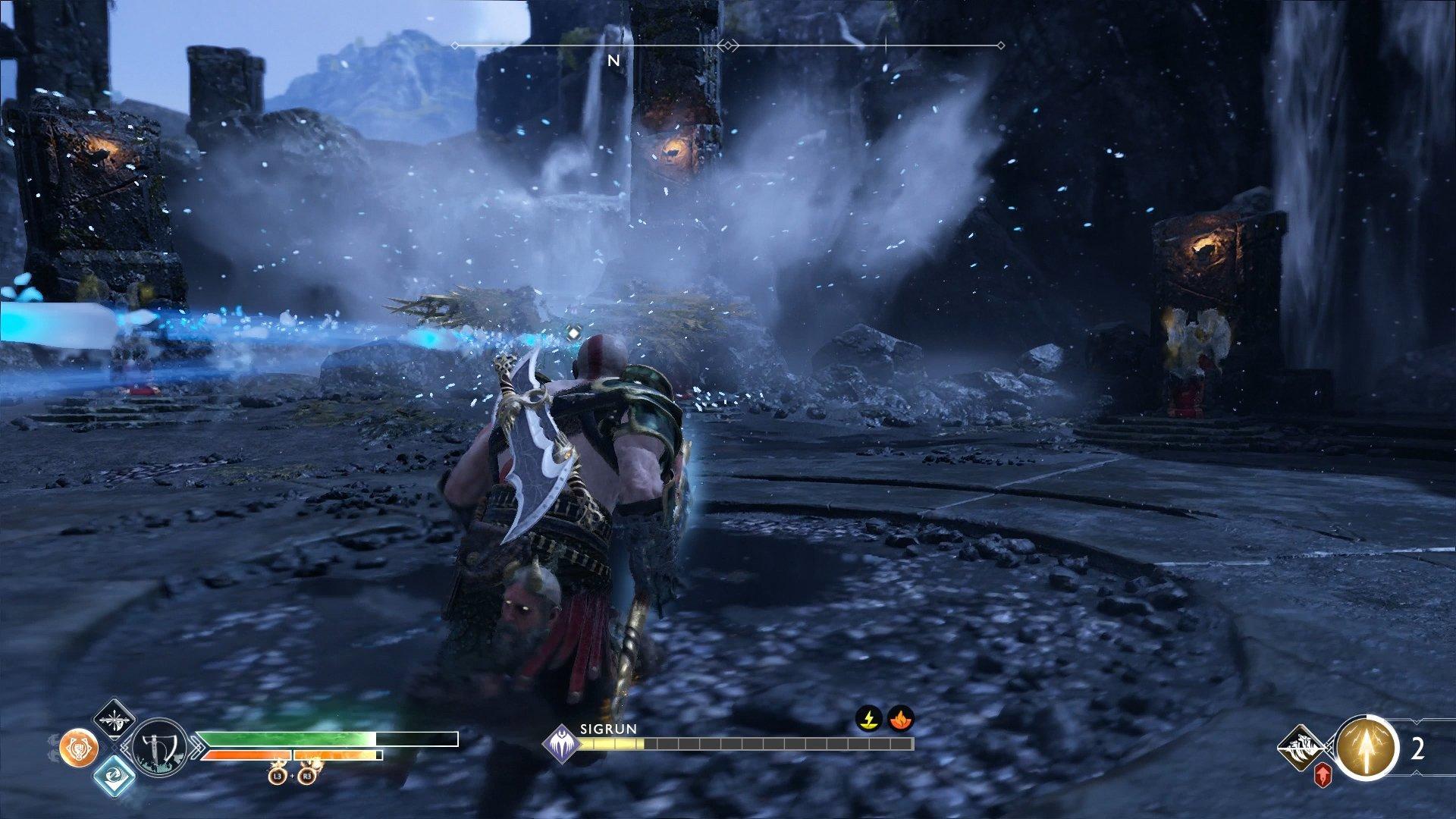 god of war valkyrie queen sigrun ice blast