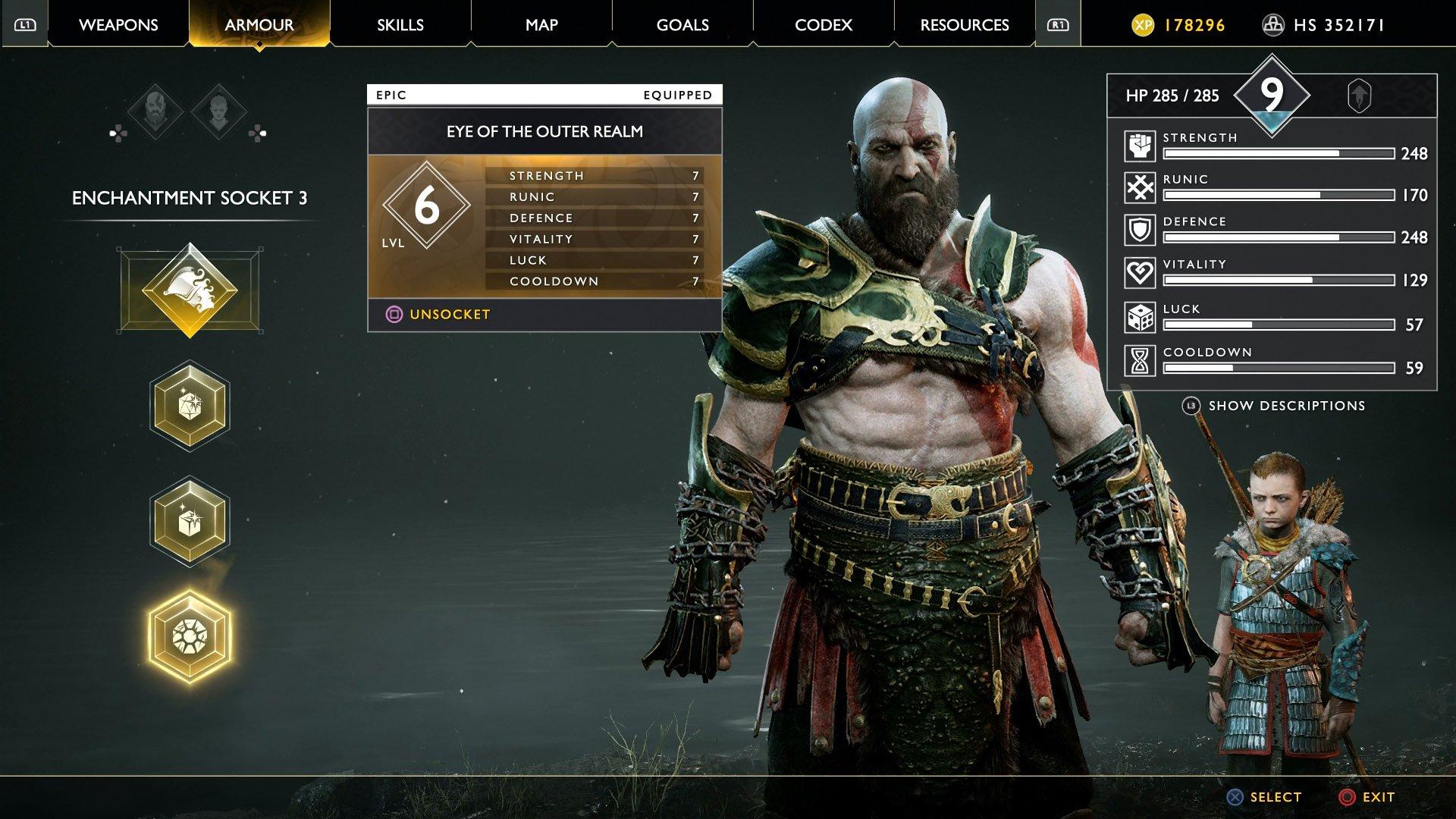 god of war valkyrie queen sigrun kratos and atreus build