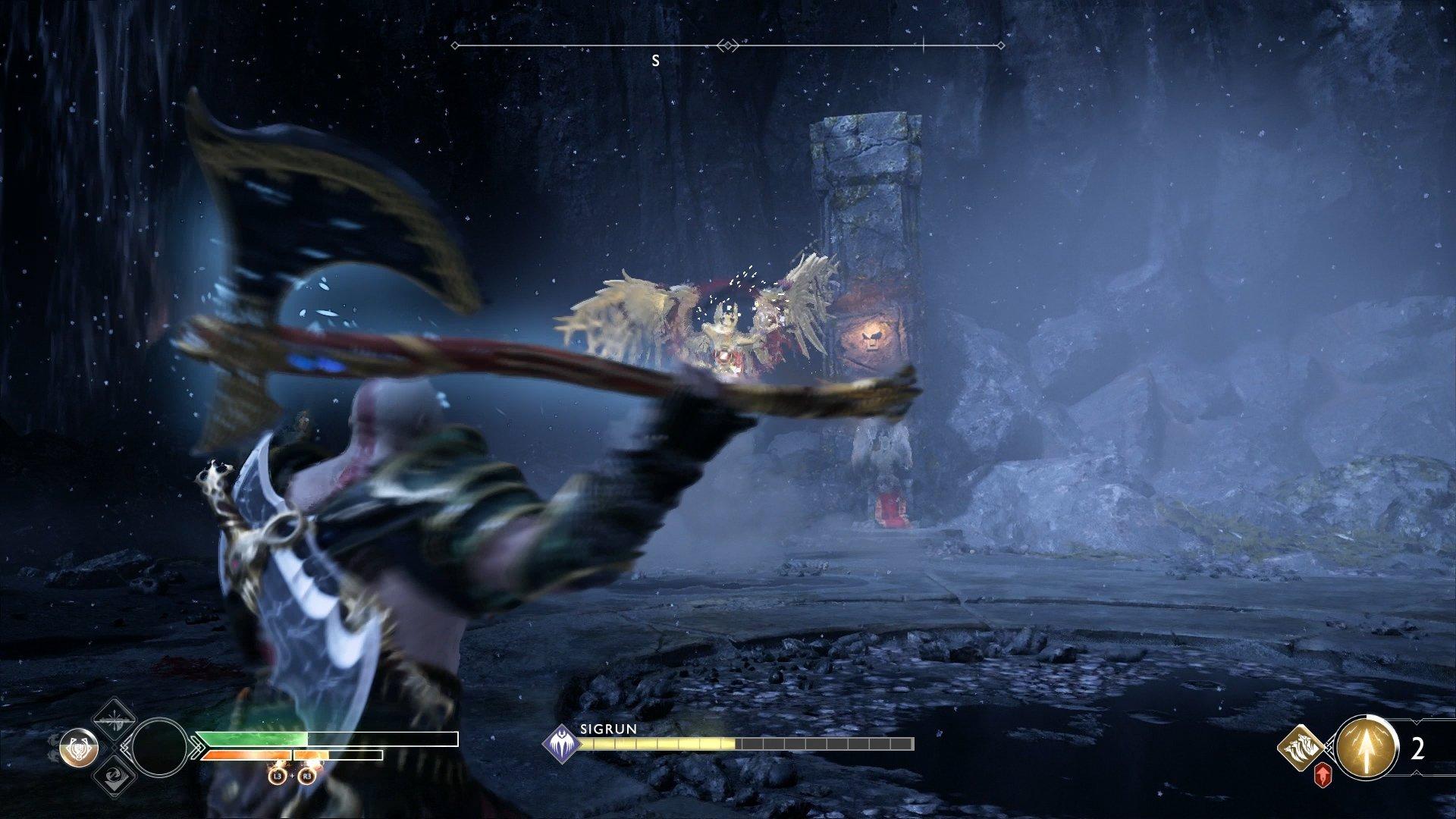 god of war valkyrie queen sigrun throw leviathan axe