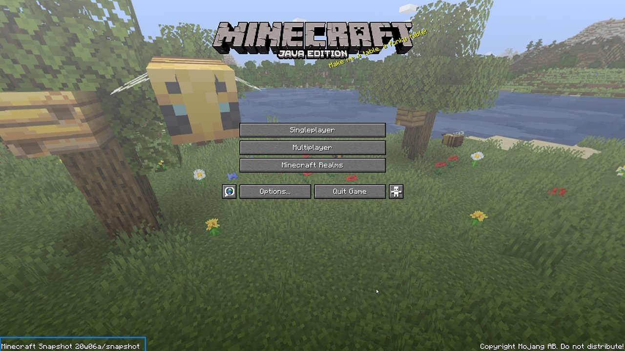Minecraft game screen - version ID