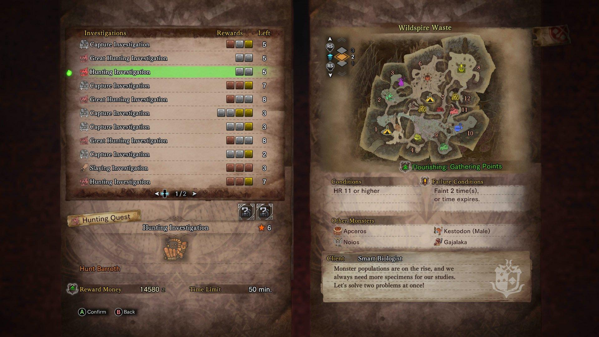 High Rank quest Monster Hunter World