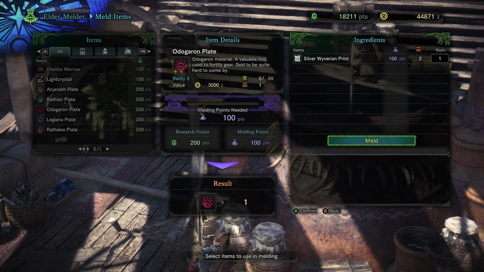 monster hunter world melding pot research points