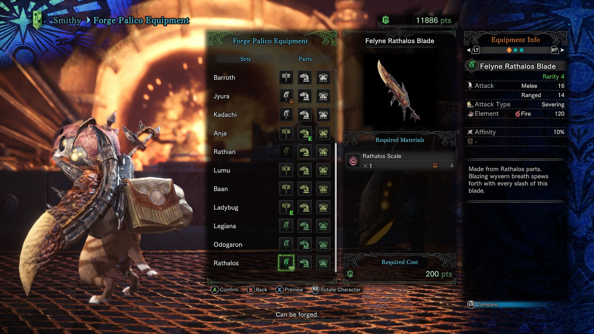 monster hunter world palico equipment research points