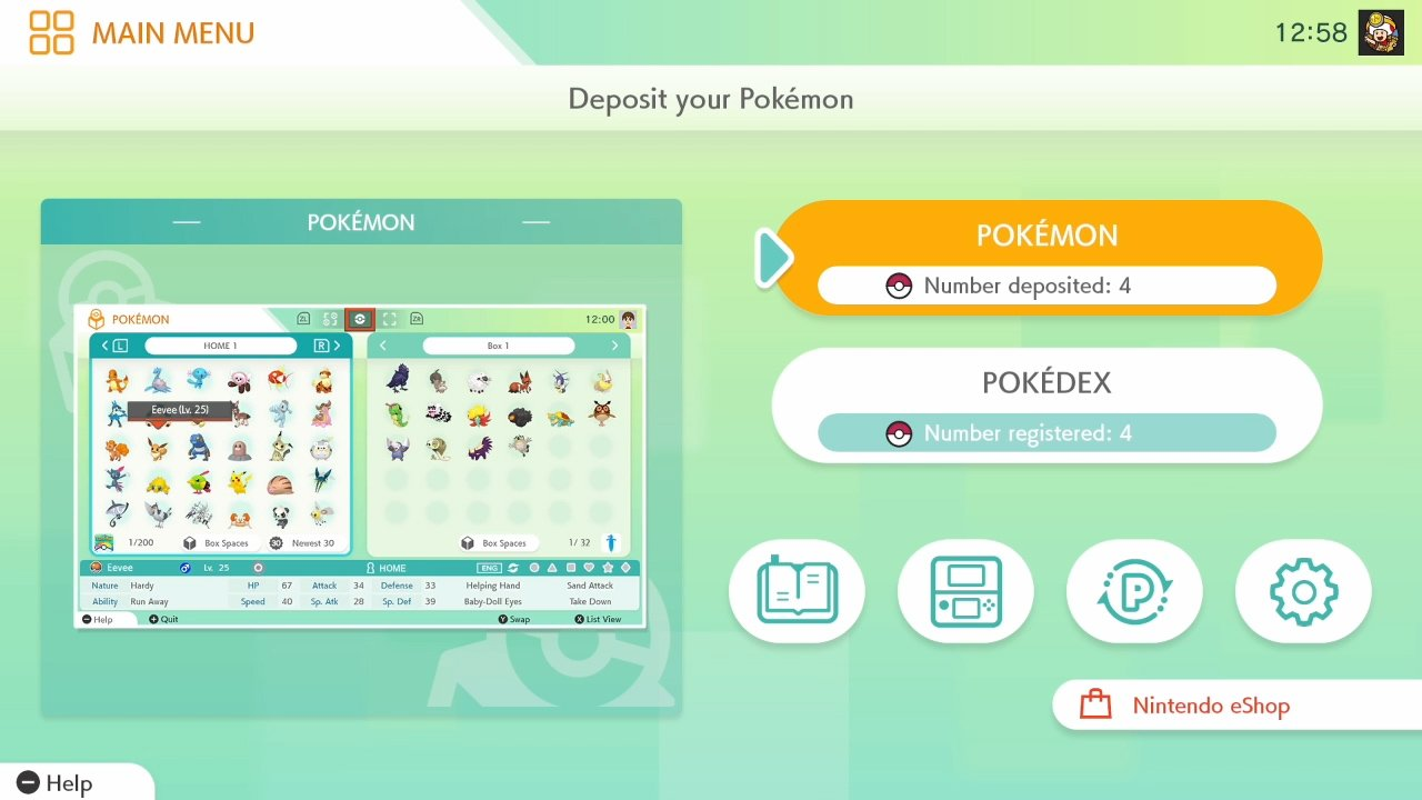 how to deposit Pokemon in Pokemon Home