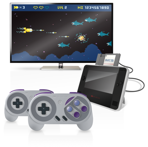 The Retro Champ allows gamers to take their NES and Famicom games on the road.