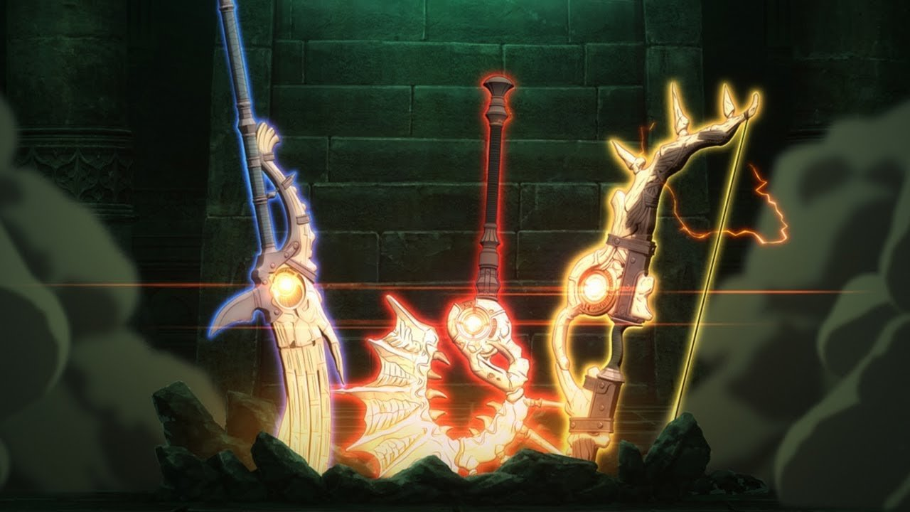 Despite being a sword user, Byleth's use of the three treasure weapons from Fire Emblem: Three Houses helps to set his playstyle apart.