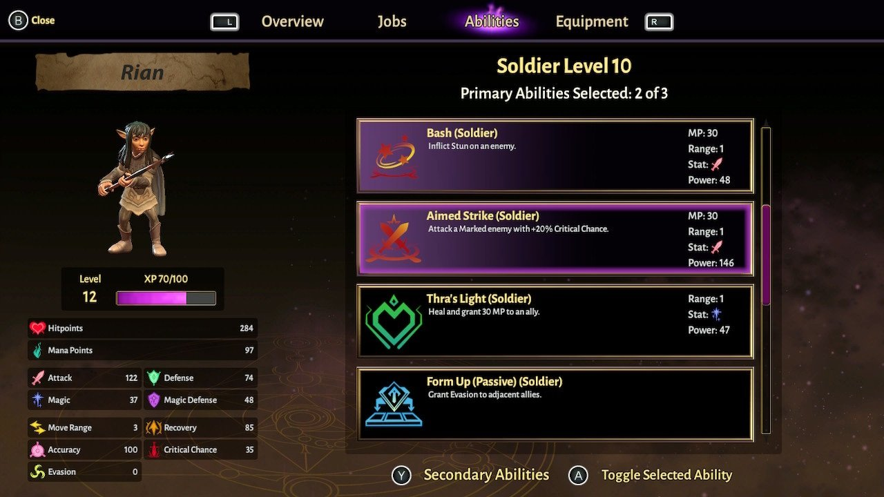 Leveling up base jobs in Dark Crystal: Age of Restistance can be just as potent as unlocking new jobs.