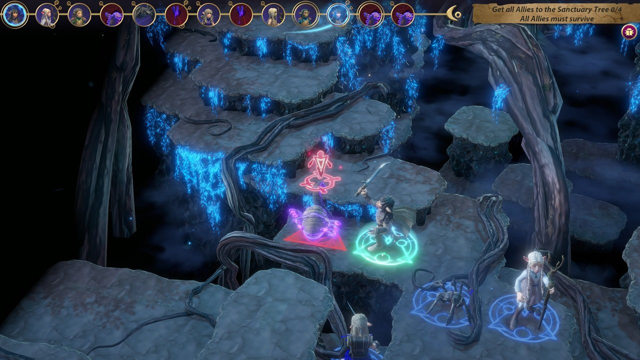 Fighting isn't always the answer in Dark Crystal: Age of Resistance Tactics' missions. Sometimes you need to survive, flee, or solve a puzzle to complete a map.
