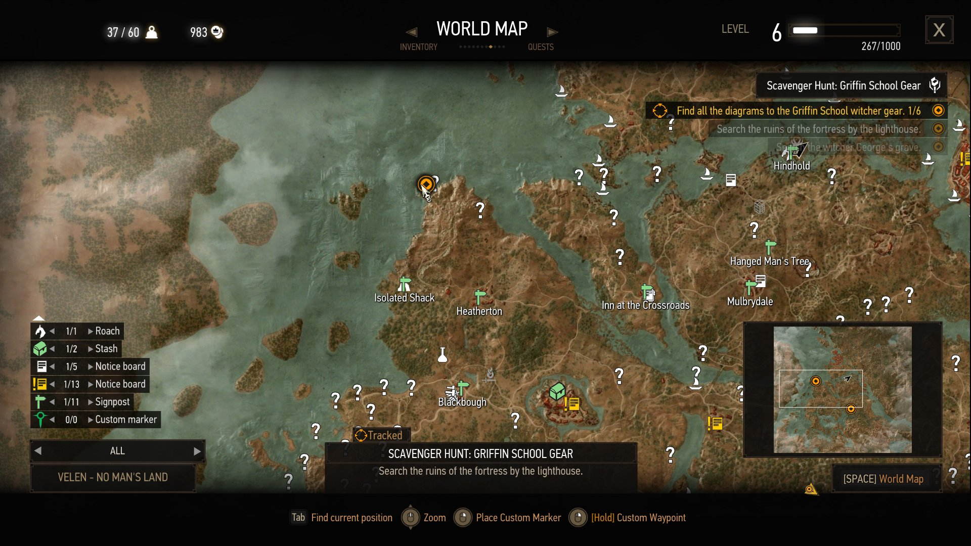 the witcher 3 griffin silver sword location