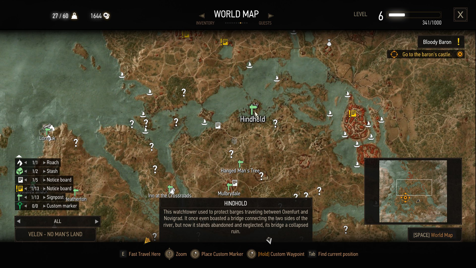 the witcher 3 griffin steel sword location