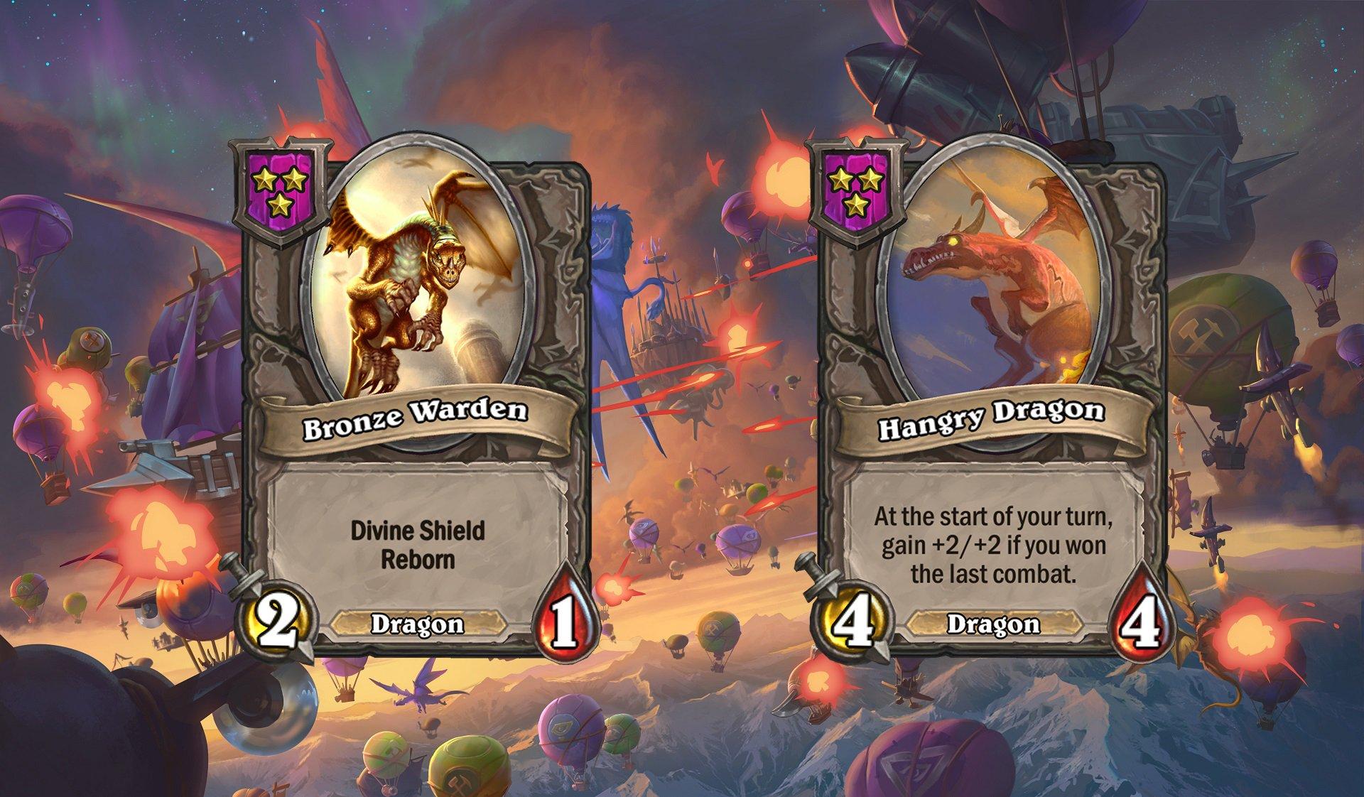Hearthstone Battlegrounds - Dragons