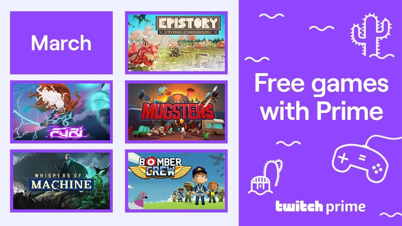Twitch Prime March 2020 Free Games