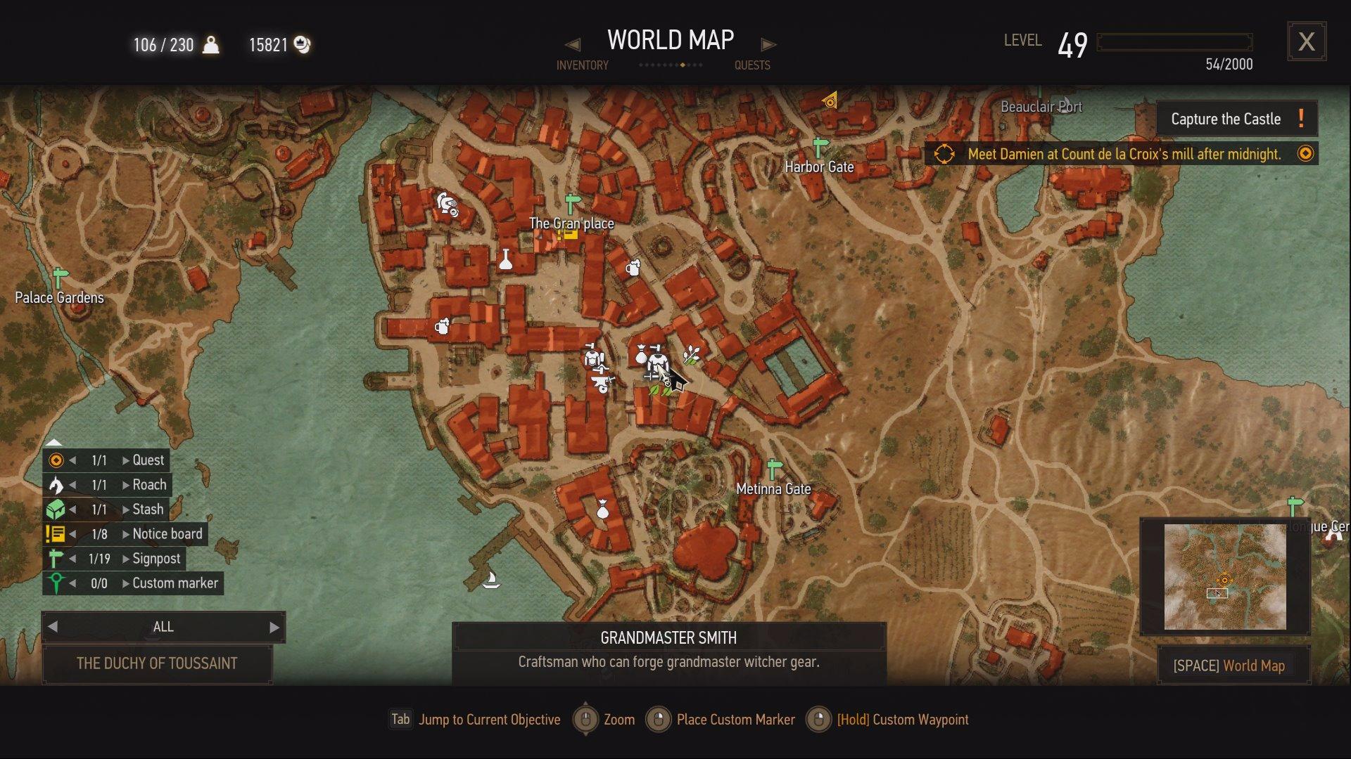 Witcher 3 - Grandmaster Smith location