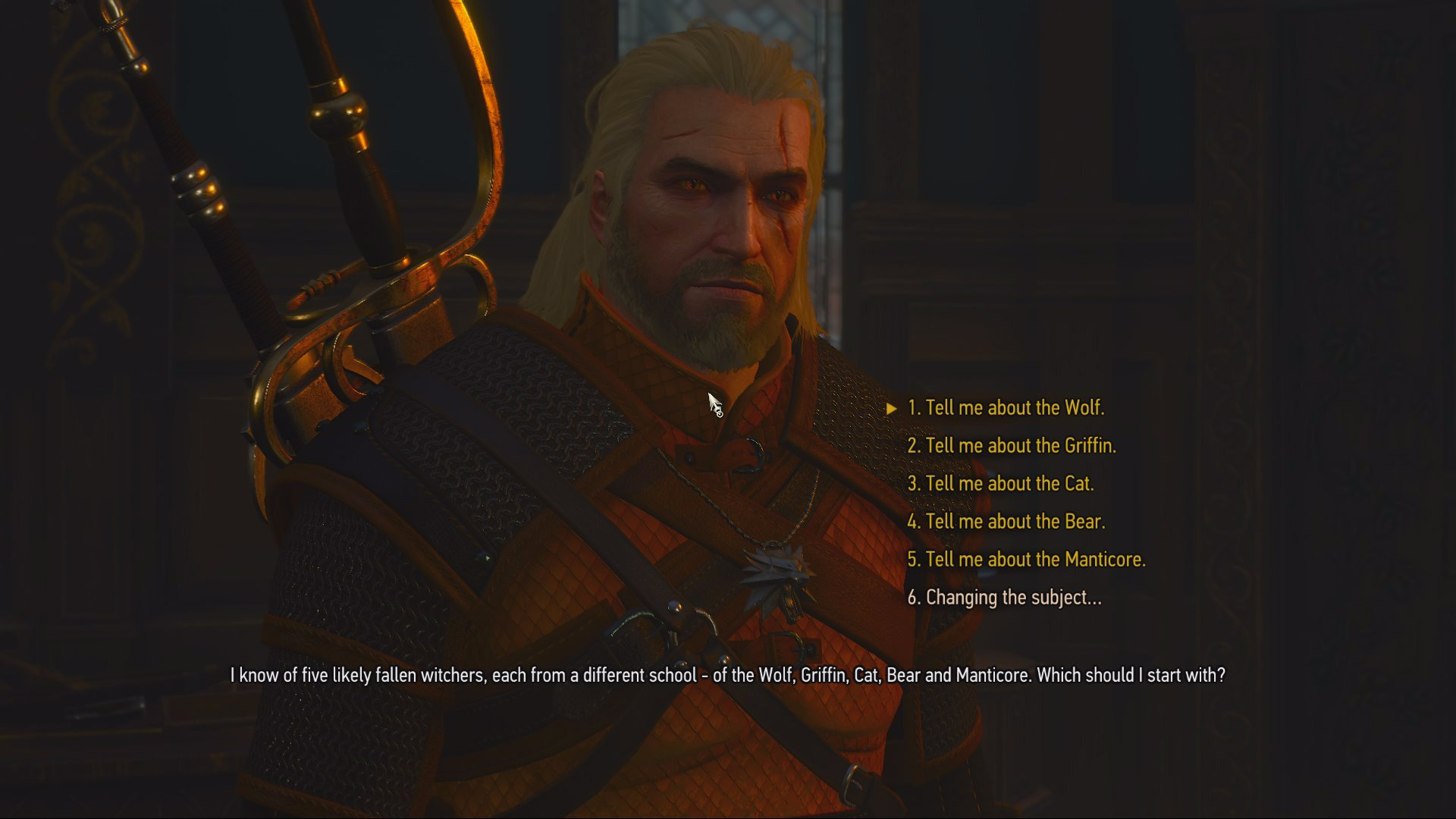 Witcher 3 - Learn about Grandmaster Wolven gear