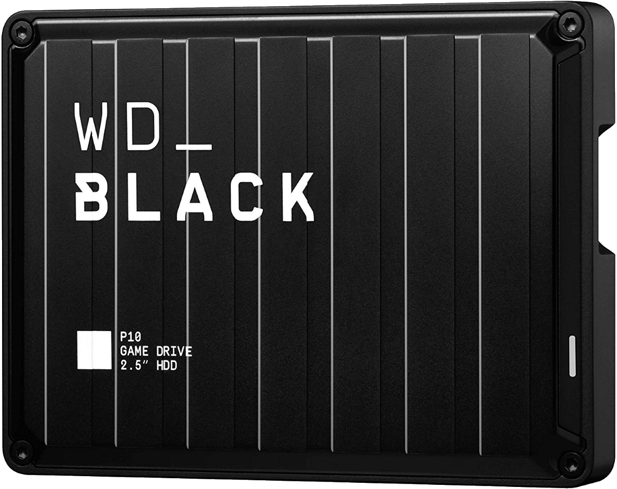The WD Black P10 drive offers 5TB of storage for your game console.