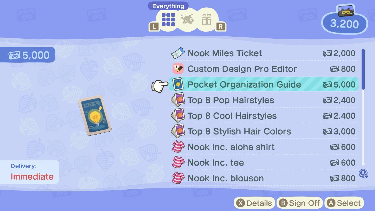 How to increase inventory space - animal crossing: new horizons