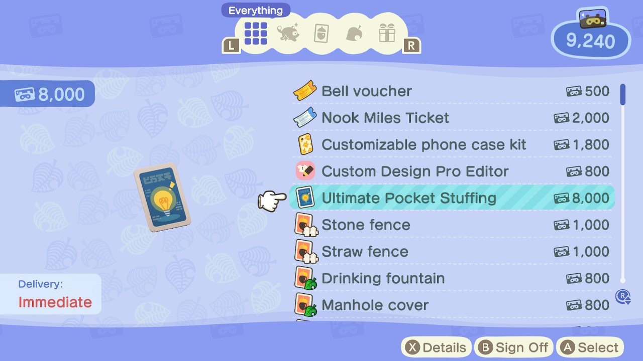 How to increase pocket space - animal crossing: new horizons