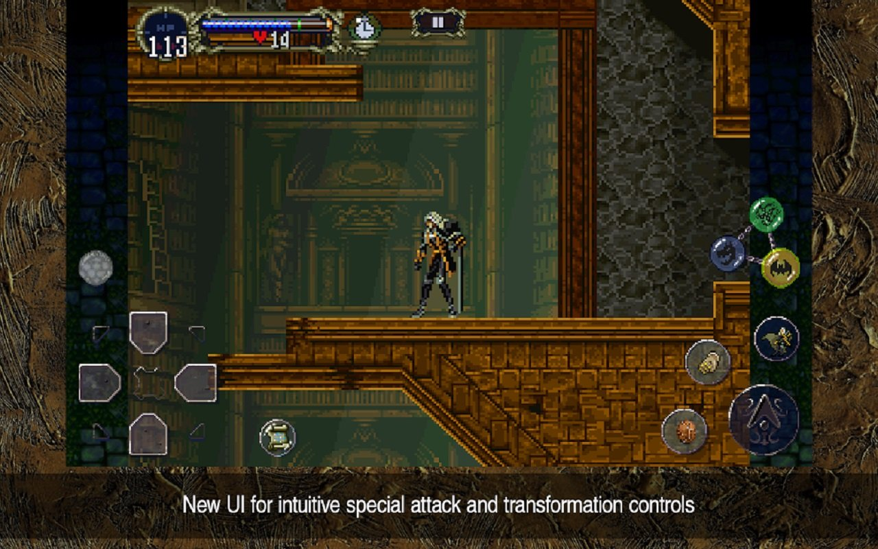 Konami seems to have designed some ease-of-access controls for Alucard's myriad of abilities in Castlevania: Symphony of the Night.