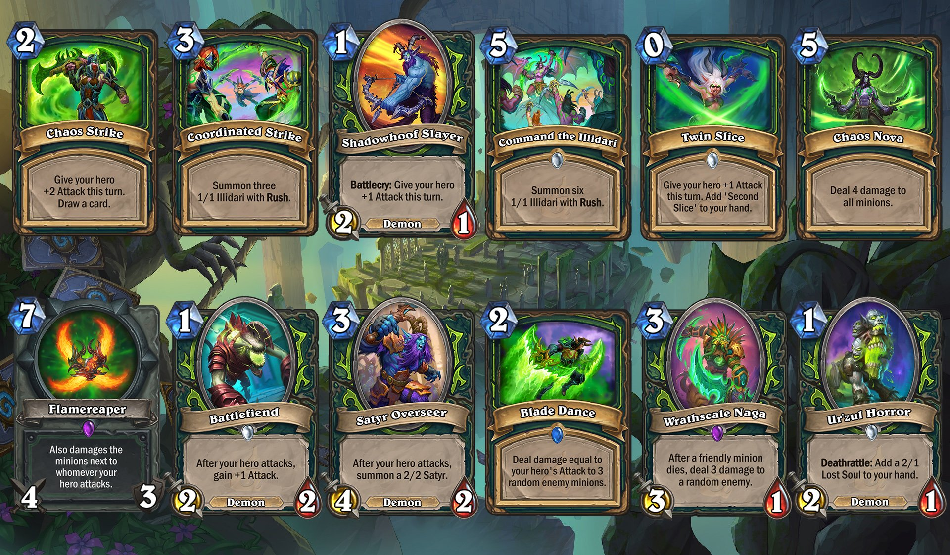 Hearthstone - Demon Hunter cards