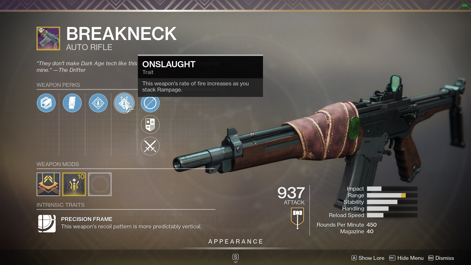 Destiny 2 Best Auto Rifles Breakneck