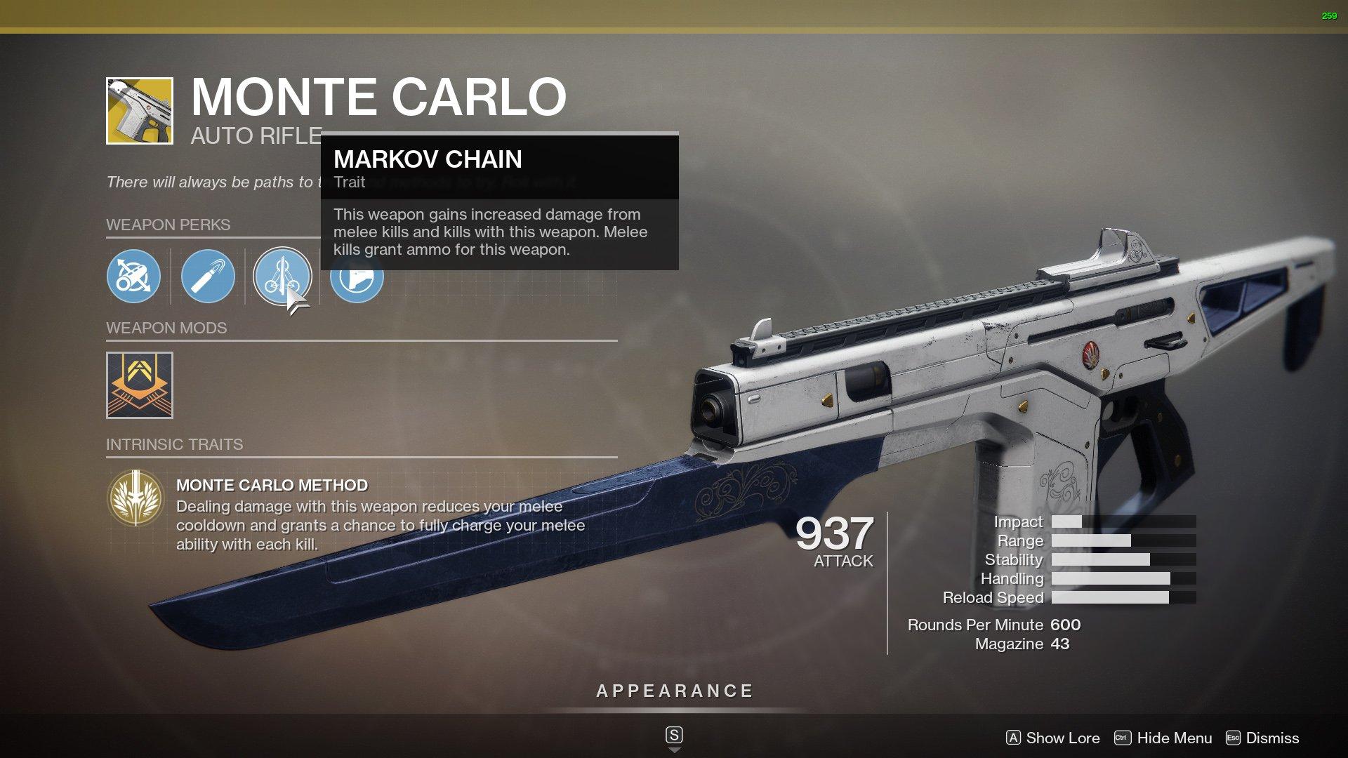 Destiny 2 Best Auto Rifles Monte Carlo