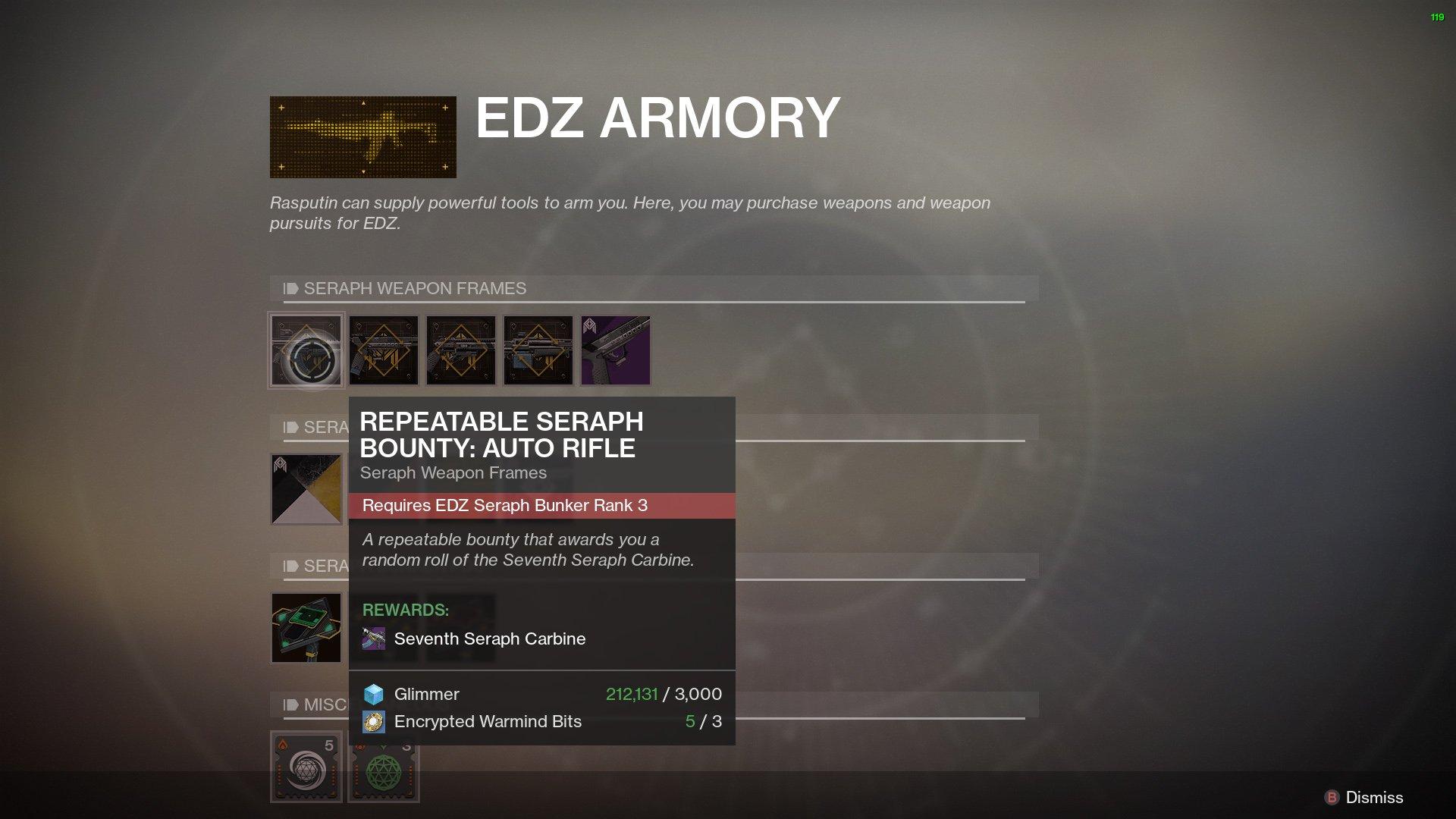Destiny 2 Best Auto Rifles Seventh Seraph Carbine