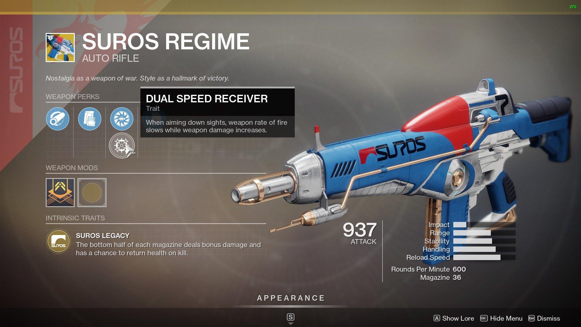 Destiny 2 Best Auto Rifles SUROS Regime