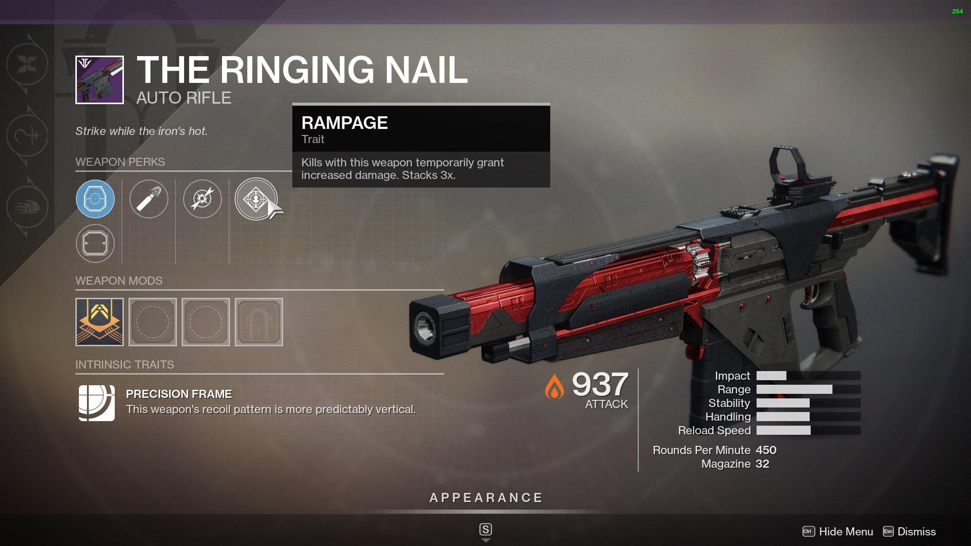 Destiny 2 Best Auto Rifles The Ringing Nail