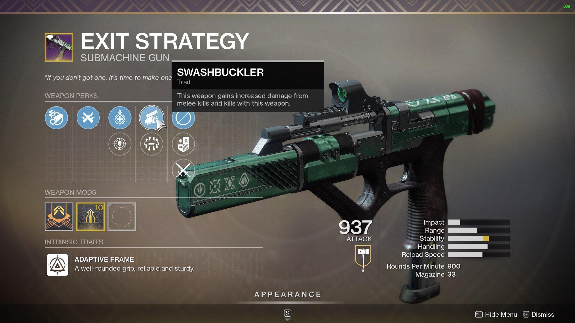 destiny 2 best smg exit strategy