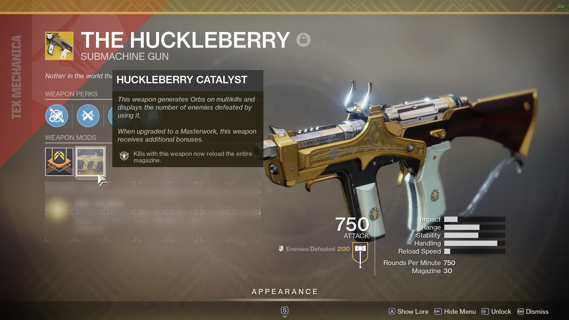 destiny 2 best smg the huckleberry