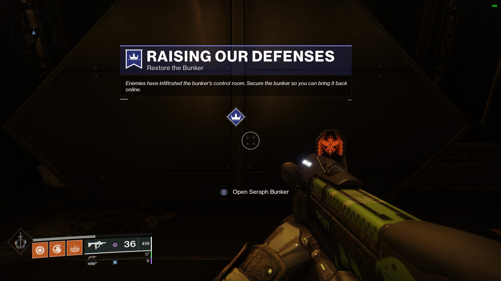 Destiny 2 Restore the Bunker