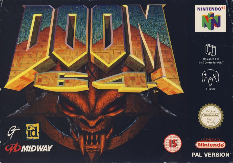 Doom 64's box art (front).