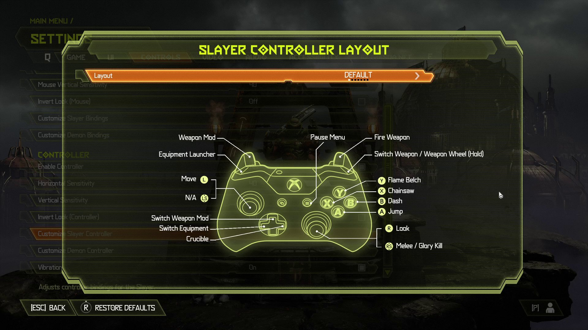 Doom Eternal controls and keybindings