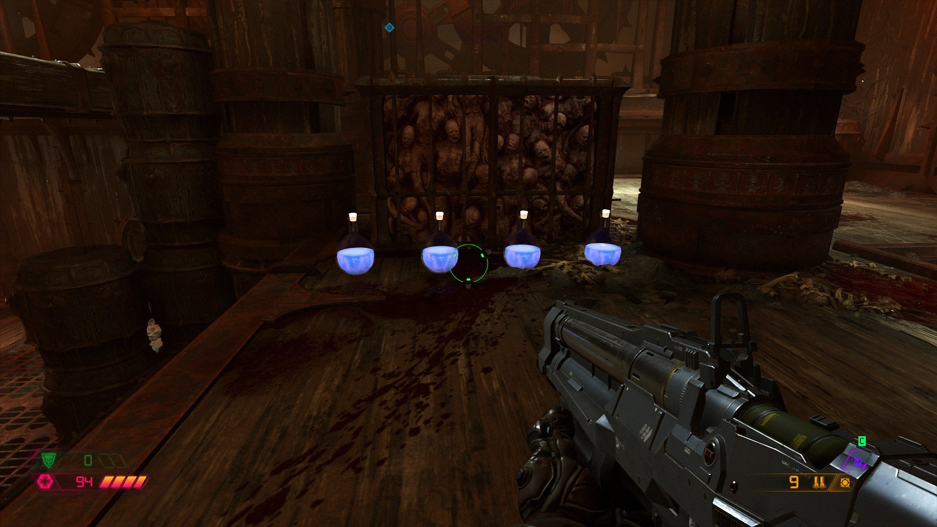 Potions, making their return from Doom and Doom 2, are good for a quick uptick in health.