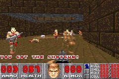 Doom on Nintendo Game Boy Advance.