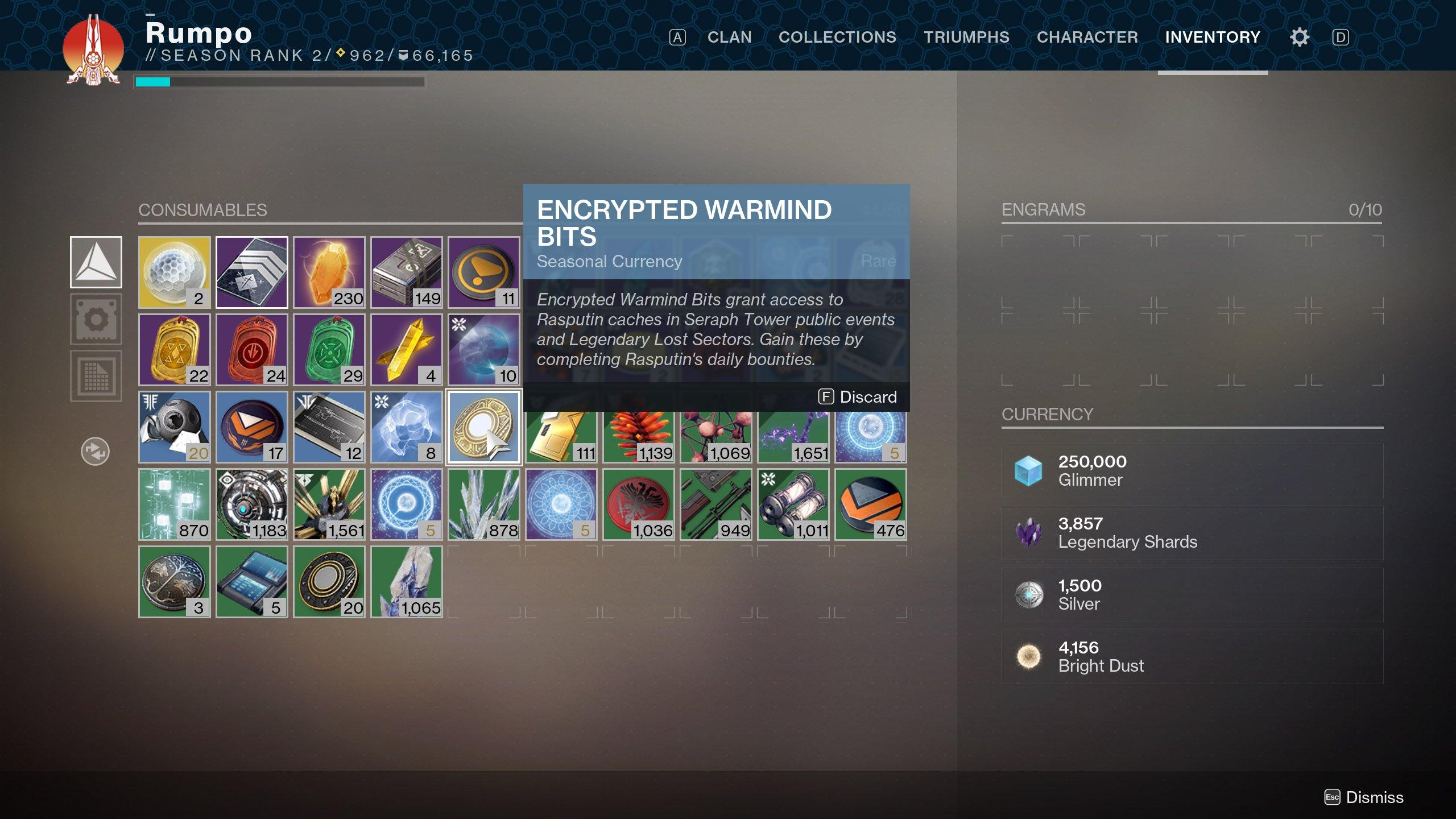 Encrypted Warmind Bits Destiny 2