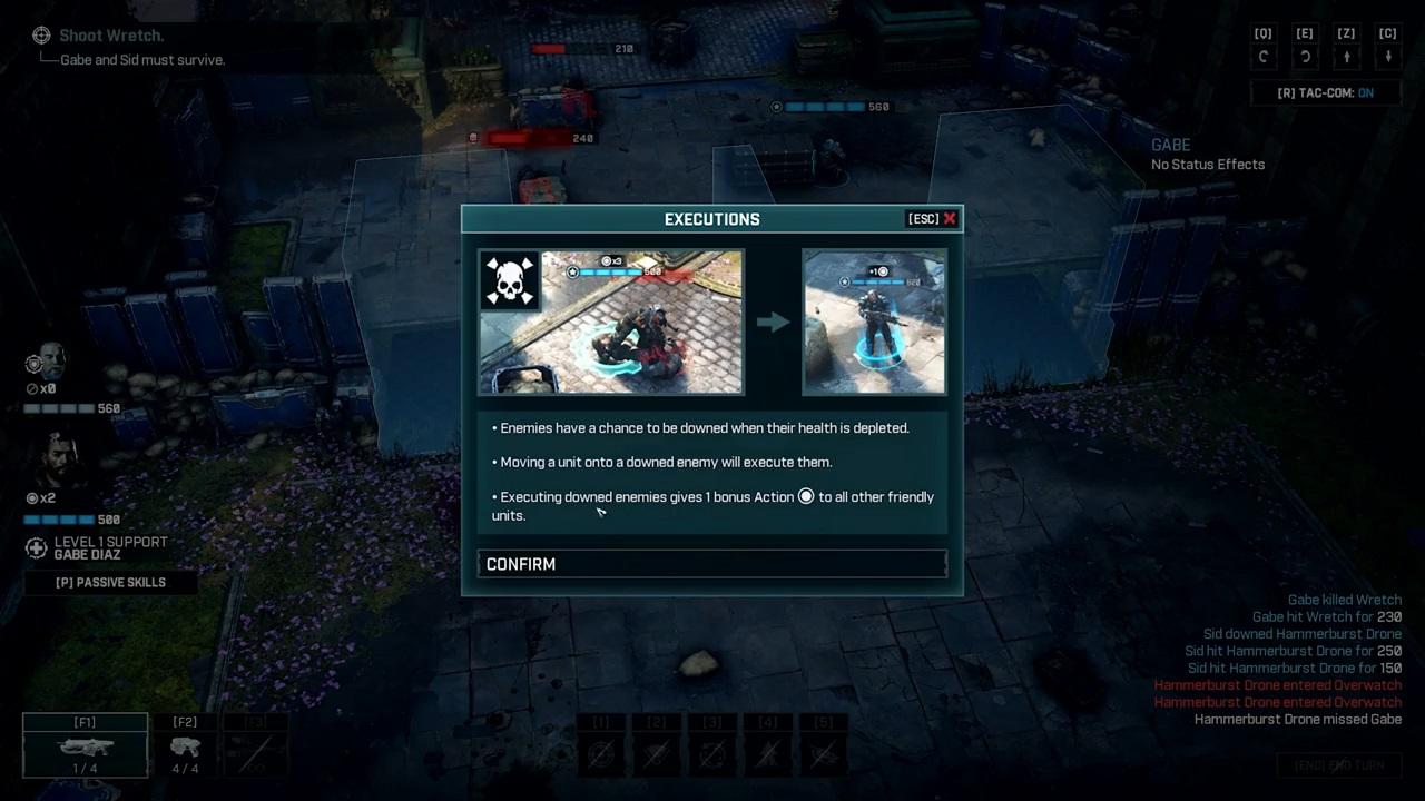 Execution moves aren't just a returning spectacle to Gears Tactics. They're also a strategic opportunity to help turn the tide of the fight.