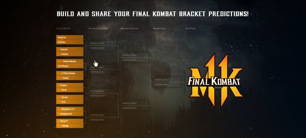 Final Kombat bracket