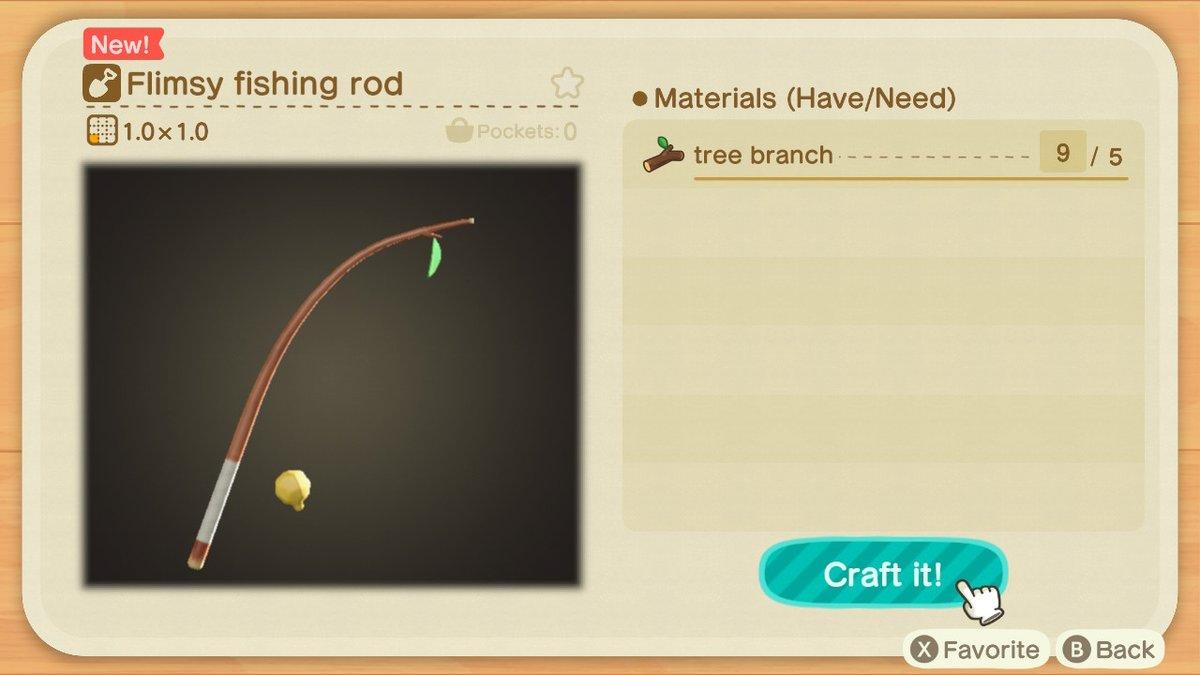 Flimsy Fishing Rod Animal Crossing New Horizons
