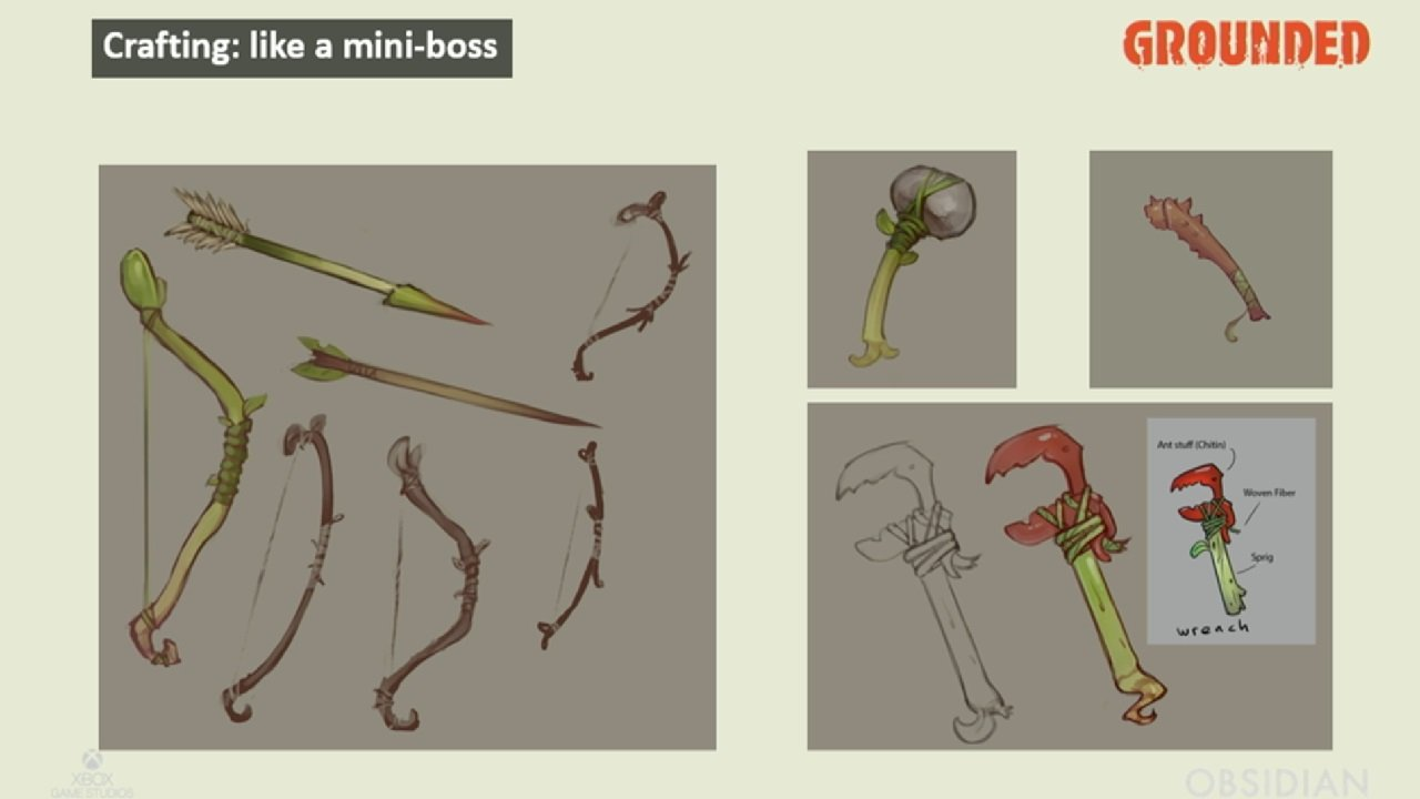 Get your hands on special bug parts and you can make some unique tools to accomplish various goals or simply survive easier in Grounded.