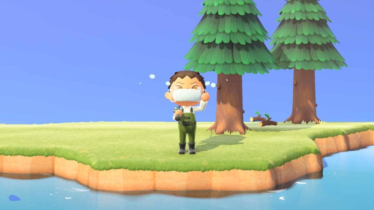 Trying to catch the Stringfish - Animal Crossing: New Horizons