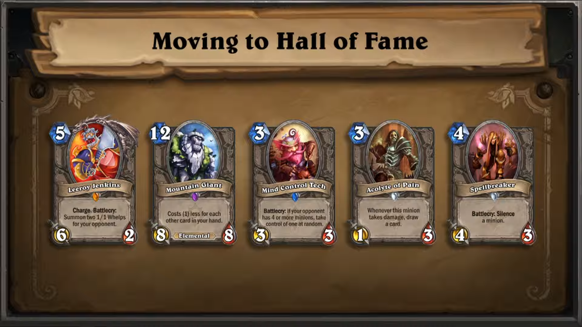 Hearthstone - Hall of Fame