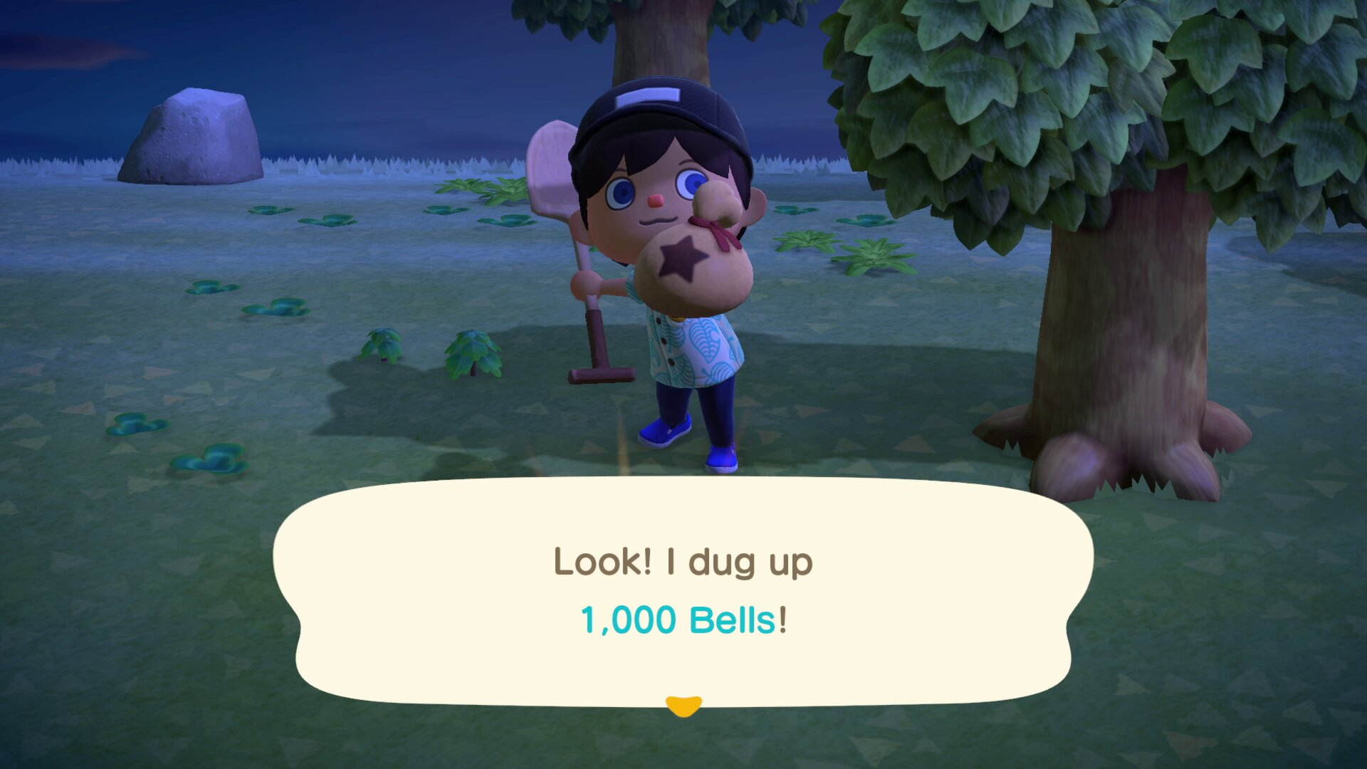You can find Bells in the ground - Animal Crossing: New Horizons