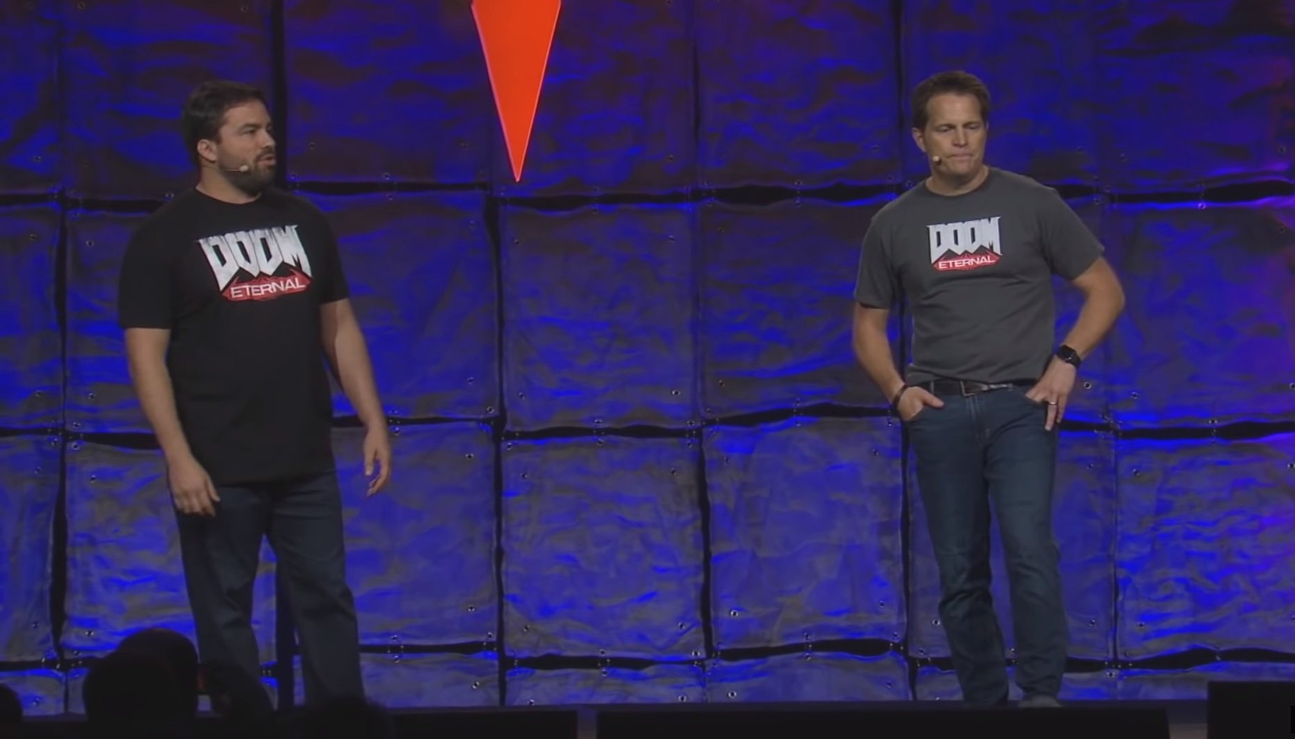 Hugo Martin and Marty Stratton reveal Doom Eternal and QuakeCon 2018.