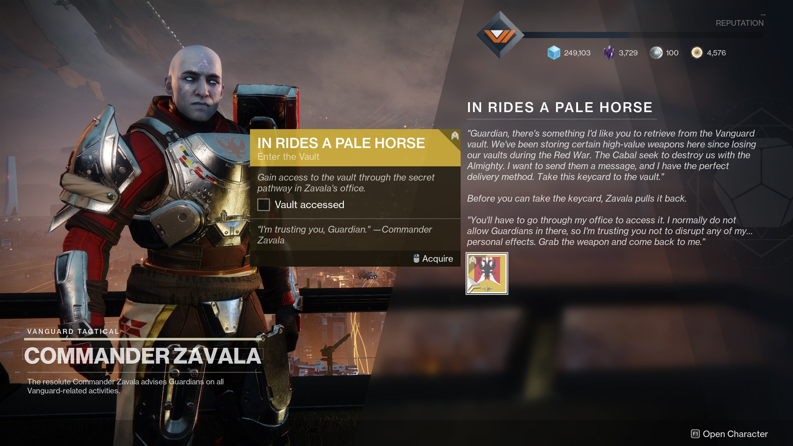 In Rides Pale Horse Destiny 2